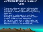 controlled drinking research cont