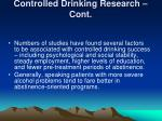 controlled drinking research cont2
