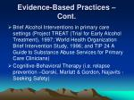 evidence based practices cont