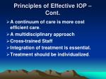 principles of effective iop cont