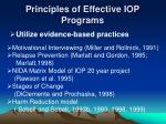 principles of effective iop programs