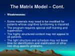 the matrix model cont