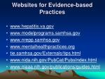 websites for evidence based practices
