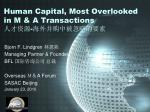 human capital most o verlooked in m a transactions