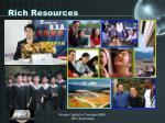 rich resources