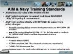 aim navy training standards