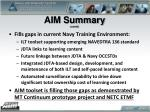 aim summary contd