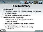 aim summary