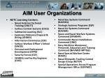 aim user organizations