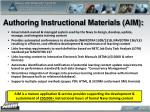 authoring instructional materials aim