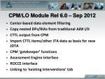 cpm lo module rel 6 0 sep 2012