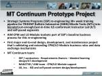 mt continuum prototype project