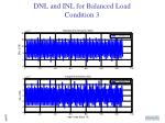 dnl and inl for balanced load condition 3