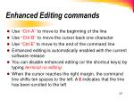 enhanced editing commands