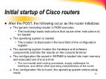 initial startup of cisco routers1