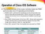 operation of cisco ios software