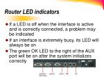 router led indicators