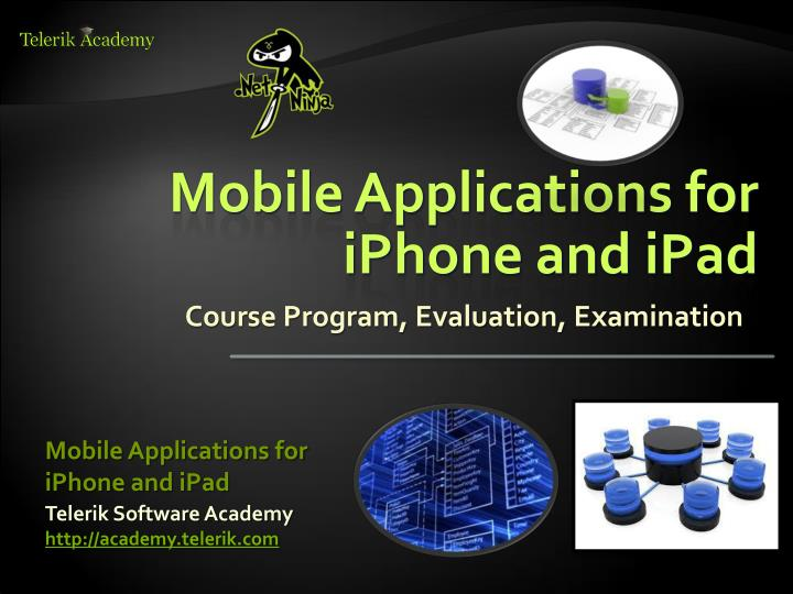 mobile applications for iphone and ipad n.