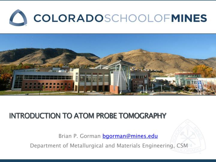 introduction to atom probe tomography n.