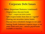 corporate debt issues1