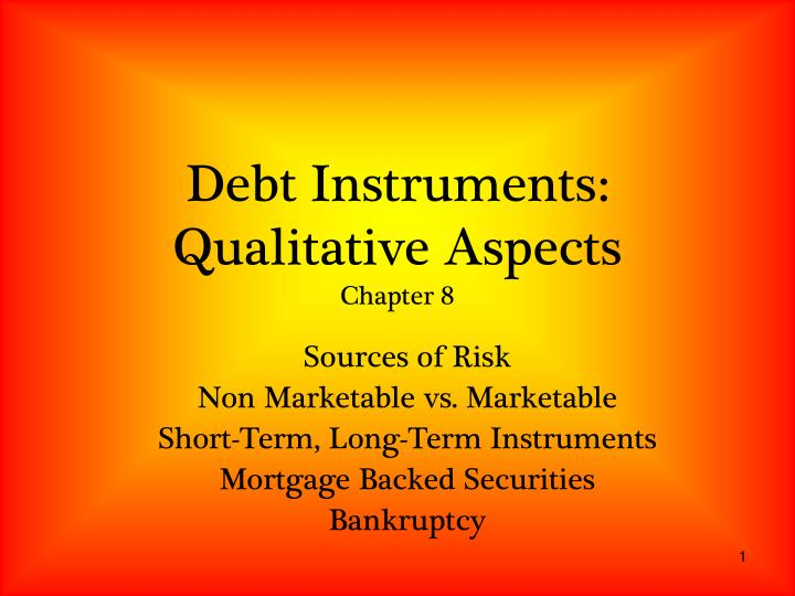 debt instruments qualitative aspects chapter 8 n.