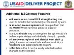 additional ilsgateway features