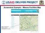 screenshot example mtwara facilities map