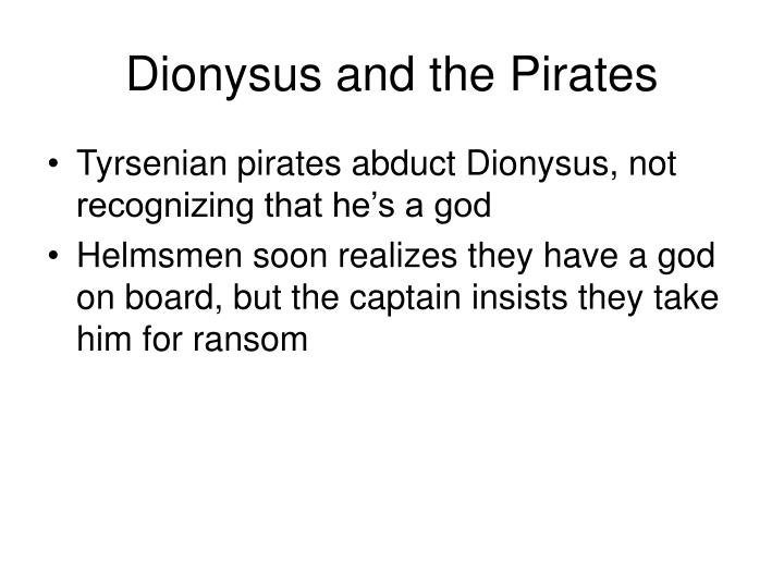 Dionysus and the Pirates