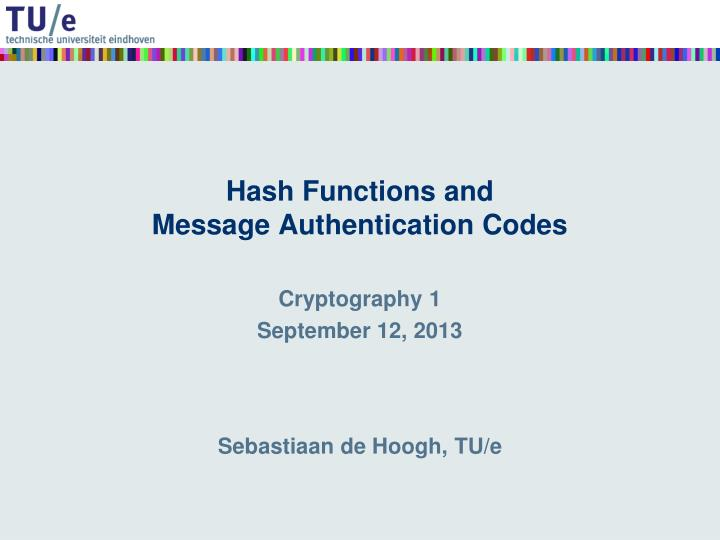hash functions and message authentication codes n.