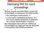 disclosing phi for court proceedings1