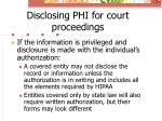 disclosing phi for court proceedings2