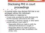 disclosing phi in court proceedings2