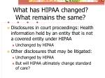 what has hipaa changed what remains the same2