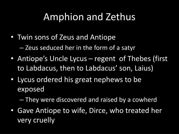 Amphion and Zethus