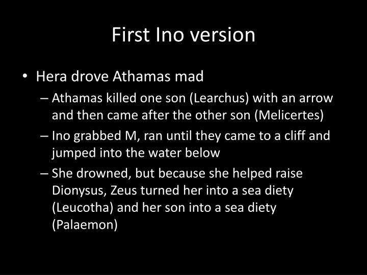 First Ino version