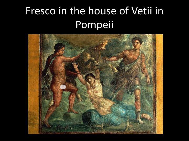 Fresco in the house of Vetii in Pompeii