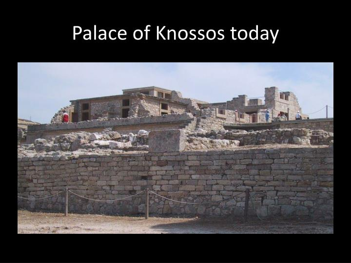 Palace of Knossos today