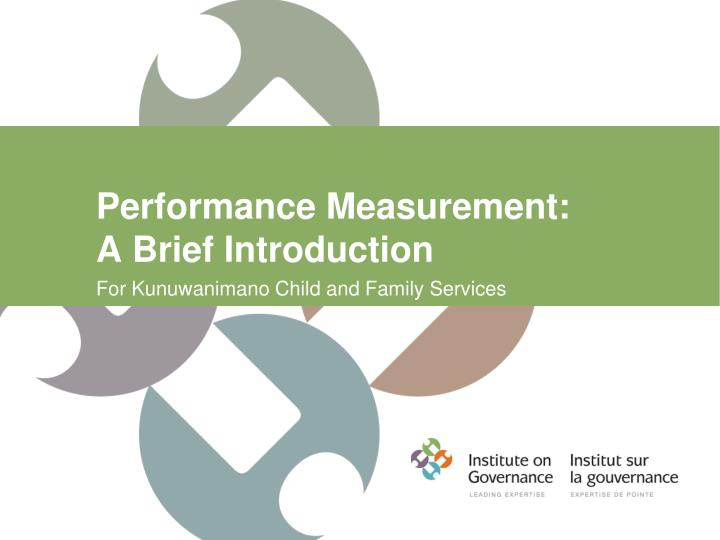 performance measurement a brief introduction n.