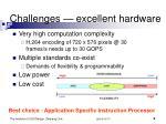 challenges excellent hardware