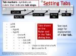 setting tabs1