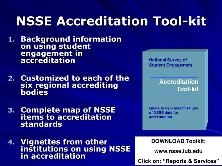 NSSE Accreditation Tool-kit