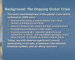 background the ongoing global crisis