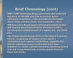 brief chronology cont