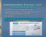 communication process cont principal global indicators