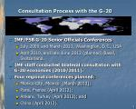 consultation process with the g 20