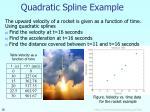 quadratic spline example