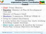 mozambique s census organization census coordination council