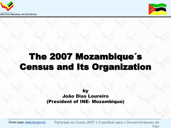 the 2007 mozambique s census and its organization n.