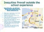 inequities prevail outside the school experience
