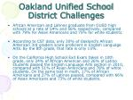 oakland unified school district challenges